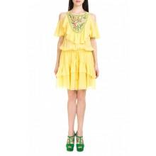 Шелковое желтое платье DIL (000439)